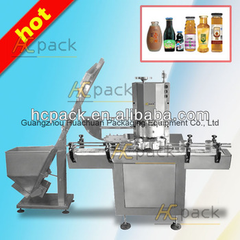 Full-automatic vacuum capping machine for cans and bottles from China supplier