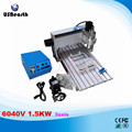 6040V 1.5KW 3axis CNC engraving machine with multifunction control box and 1.5KW VFD water cooling spindle wood lathe