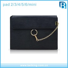 Wallet Leather PU Bag For iPad 2/3/4/5/6 Tab, Shoulder Leather Bag Case For iPad Mini For iPad Air 2
