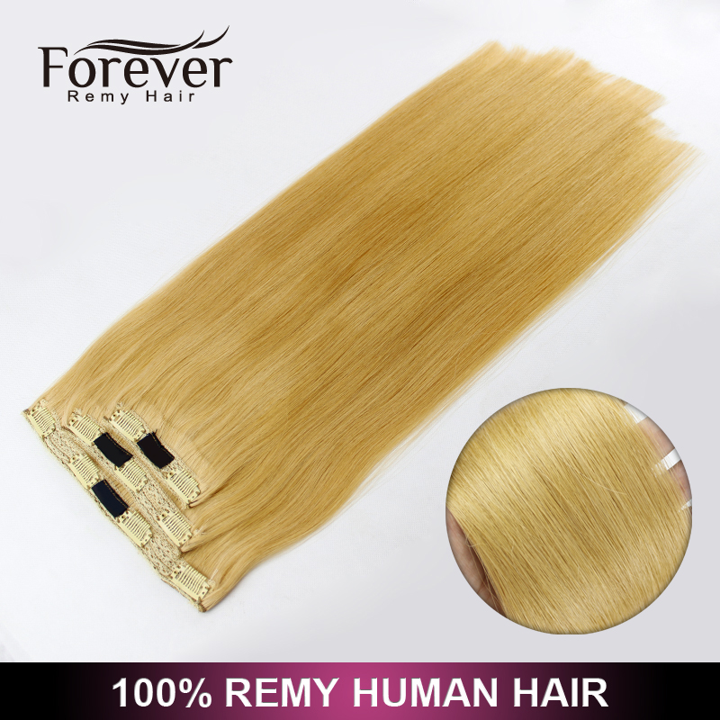 Wholesale different weight 100g 120g 160g 220g 260g 100% Full Cuticle remy clip on human hair extensions 300g