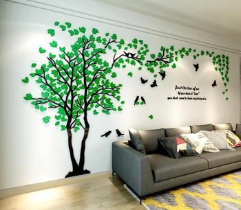 Acrylic 3D  Wall Stickers home decor creative wall decals living room lovers tree wall stickers