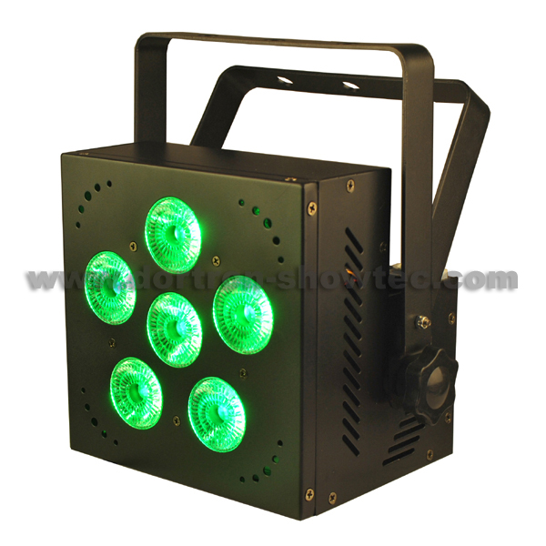 wireless dmx battery powered led par 6x12W RGBWA+UV 6-in-1