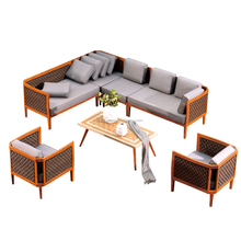 china express new product 77S-2 Garden Sectional Rattan Patio Furniture Bamboo Outdoor Furniture