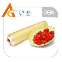 Fruits and vegetables blue film side for wrapping food