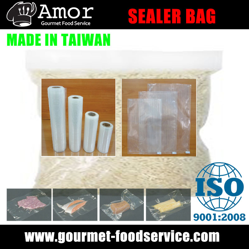 Air out vacuum sealer roll bag for rice
