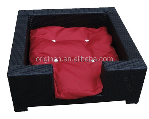 breathable basket rattan square pet house wicker dog bed