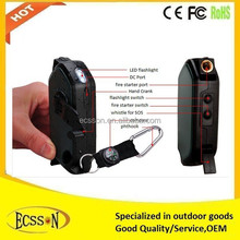 Portable hand crank cell phone charger for travelling