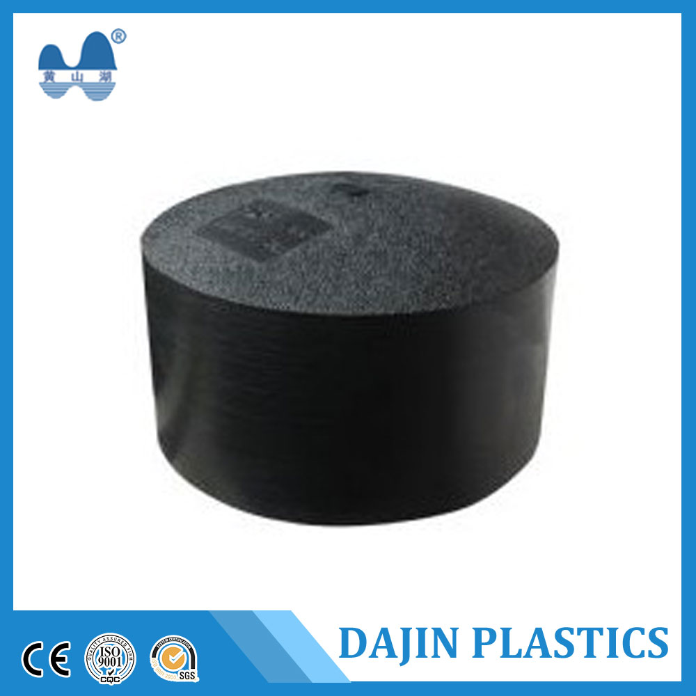Custom-made Butt PE End Cap and HDPE pipe line for water supply