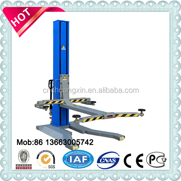 single post hydraulic drive portable garage auto car lift