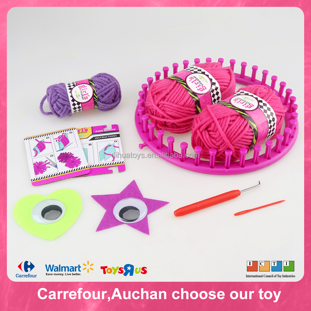 Weaving Machine Toy DIY Knitted Hat for Girl