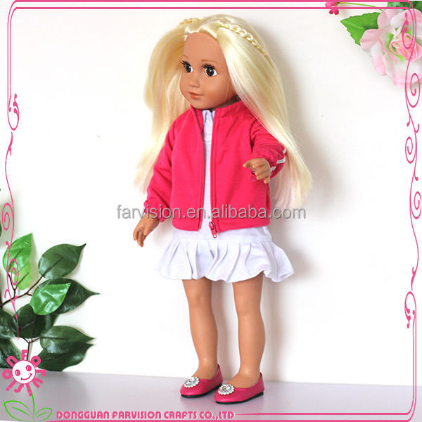 OEM toy doll uniform for school kids 18'' doll clothing wholesale