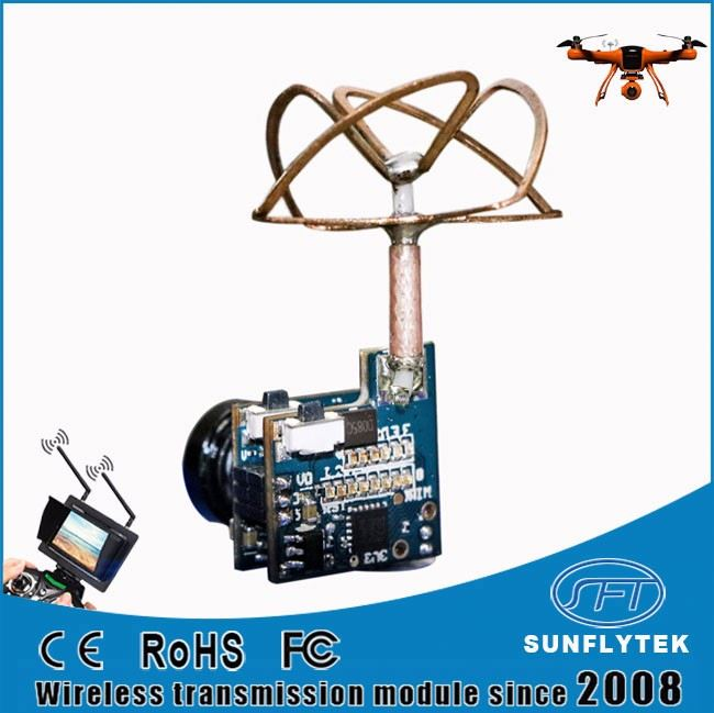 3.1g Net Weight 5.8ghz 25mW 48 channels camera wireless transmitter with 4 leaf colover antenna