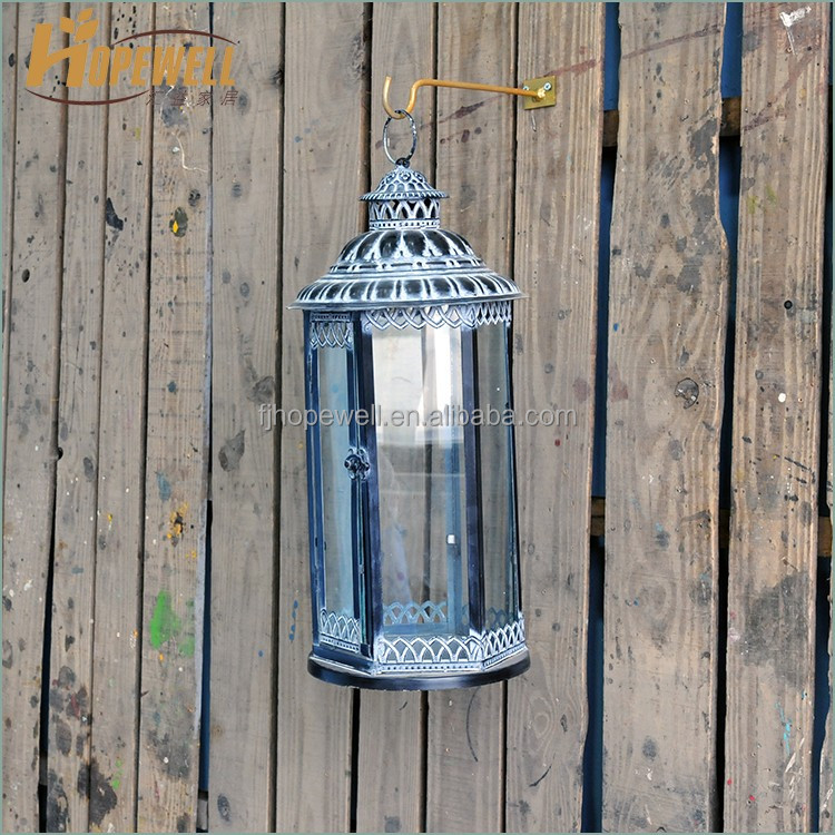 turkish glass lantern wrought iron , metal storm lantern craft