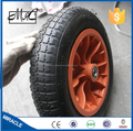 CHINA Qingdao hot 400mm Small Pneumatic Rubber Wheelbarrow Wheel 4.80 / 4.00-8
