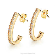 gold plated earrings Copper ladies earrings designs pictures DE668