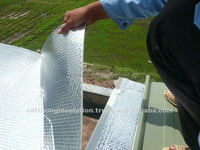 Reflective Heat Insulation Aluminum Film Composite with Fiberglass Plain Fabric