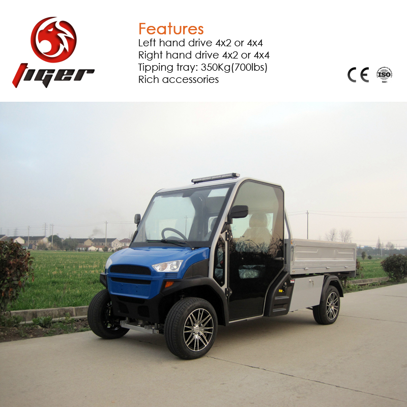 Light duty electric car long driving range mini electric pickup for sale