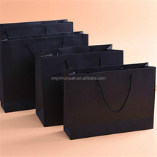 Custom Black Cardboard Paper Universal Packaging Bag