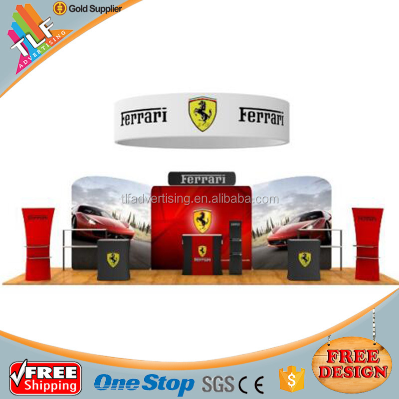 Free Design Tension Fabric Exhibition Portable Backwall Display Booth