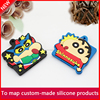 2017 new fashion cute soft pvc rubber keychain, silicone car key cover, keychain
