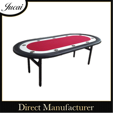 8 player Casino Texas Holdem Folding Poker Tables with stainless steel cup holders
