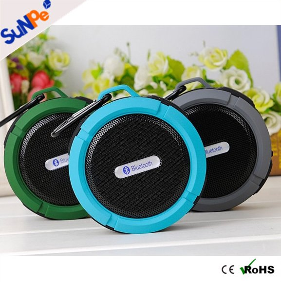 Portable Mini Subwoofer HIFI Stereo Sound Box C6 Waterproof Bluetooth Speaker Shower Speaker For Outdoor Sport