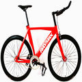 New style red single speed fixed gear bike