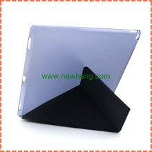 from alibaba china slim magnetic pu leather smart cover + hard back case for ipad pro
