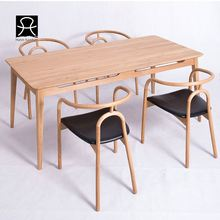 China manufacture dining table solid wood furniture
