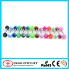 316L Surgical Steel Barbell with Skull Inlayed UV Ball Tongue Piercing