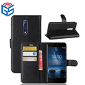 Wholesale Premium PU Leather Flip Wallet Case Cover For Nokia 8