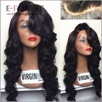 No Chemical Brazilian Human Hair Wig Glueless 6A Wholesale Human Hair Full Lace Wig In Dubai