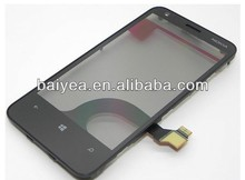 Oem new for Nokia Lumia 620 touch screen digitizer with front cover panel replacement #:00808W4