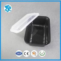 Disposable 3-Compartment Small Plastic Food Tray Lunch Blister Containers