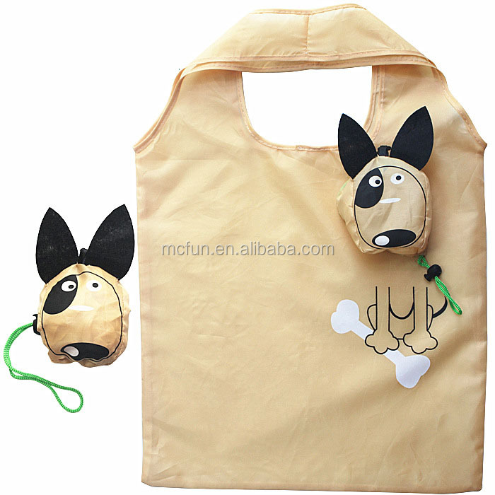 Monkey Pig Cow Dog Foldable Shopping Bag