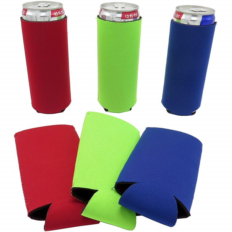 High Quality Neoprene slim can cooler 12oz slim can holder