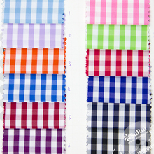 New Fashion!polyester cotton yarn dyed woven check plaid fabric for shirts