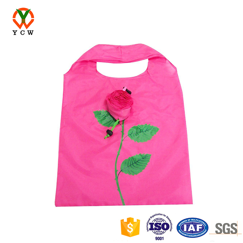 Foldable customized mini vegetable shopping trolley bag outdoor folding bag