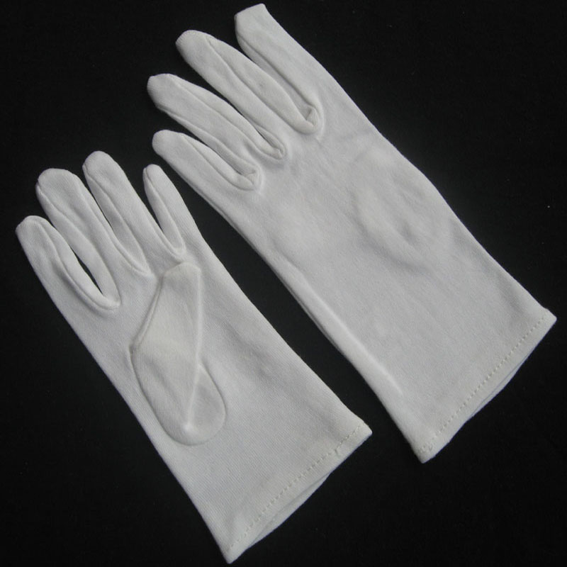 White Cotton Marching Band Gloves