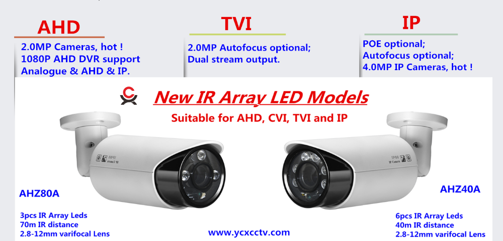 high quality ahd 2.0mp 4 in 1 dome cctv camera