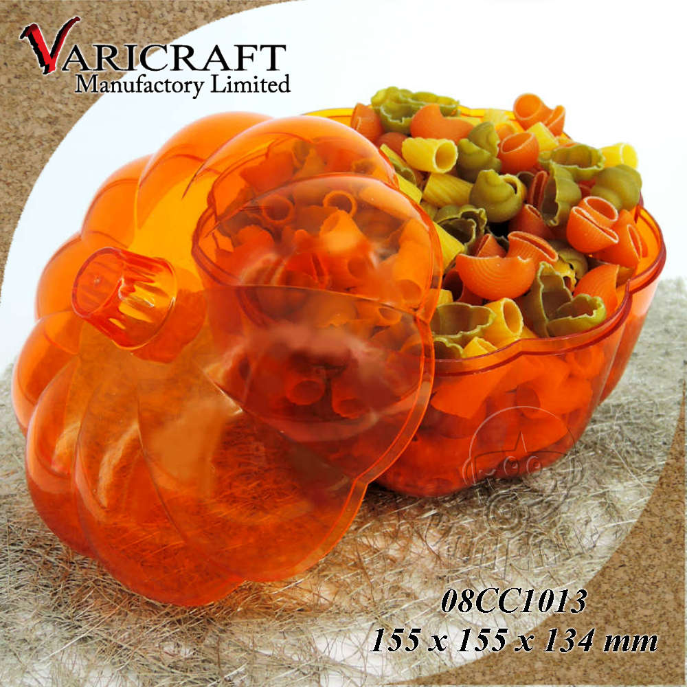 100% Food Grade Plastic large Pumpkin Varieties candy container / box / case