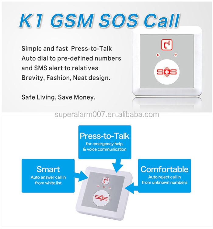 elderly monitoring devices with big red emergency call button.for senior health care devices