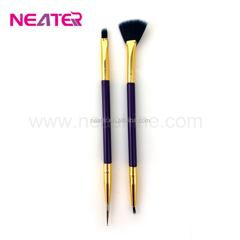 High Quality Double head powder make up brushes eyeshadow brushes makeup brushes set