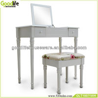 Shenzhen simple&pretty design makeup desk /dressing table with stool