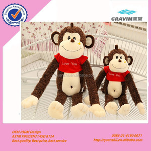 Newest factory sale OEM Design stuffed plush toys monkeys with good price