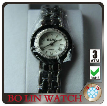 2013 japan movement diamond watches Elegant Ladies' Stainless Steel Real Diamond Watch classic quartz diamond watches