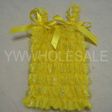 Baby ruffle top with 2 bows gold bling bling glitter top wholesale baby ruffle underwear