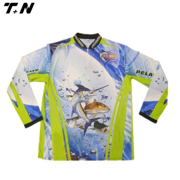 Sublimated fishing shirts custom made dri fit shirts for Dri fit fishing shirts