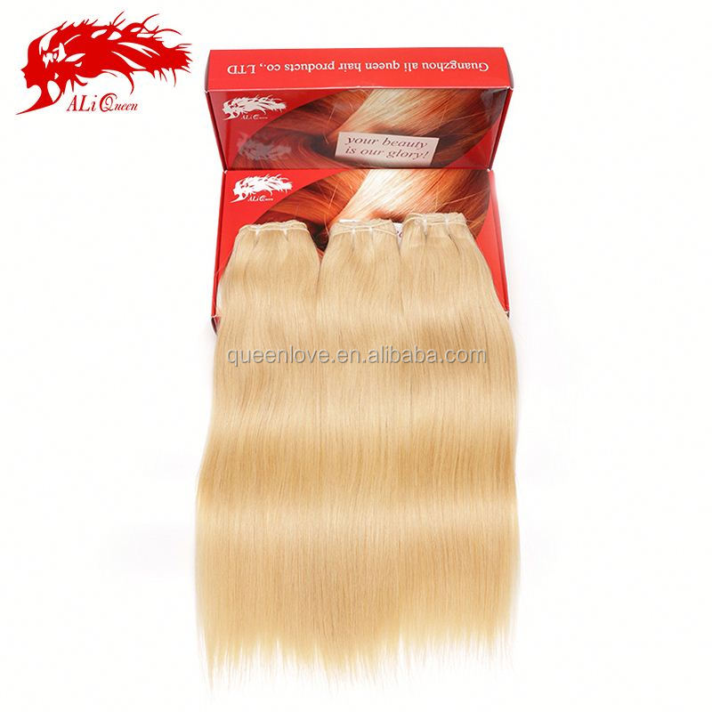 Pure 613# color unprocessed blonde human hair weave