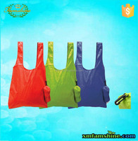 wholesale 210d polyester fold up shopping bag